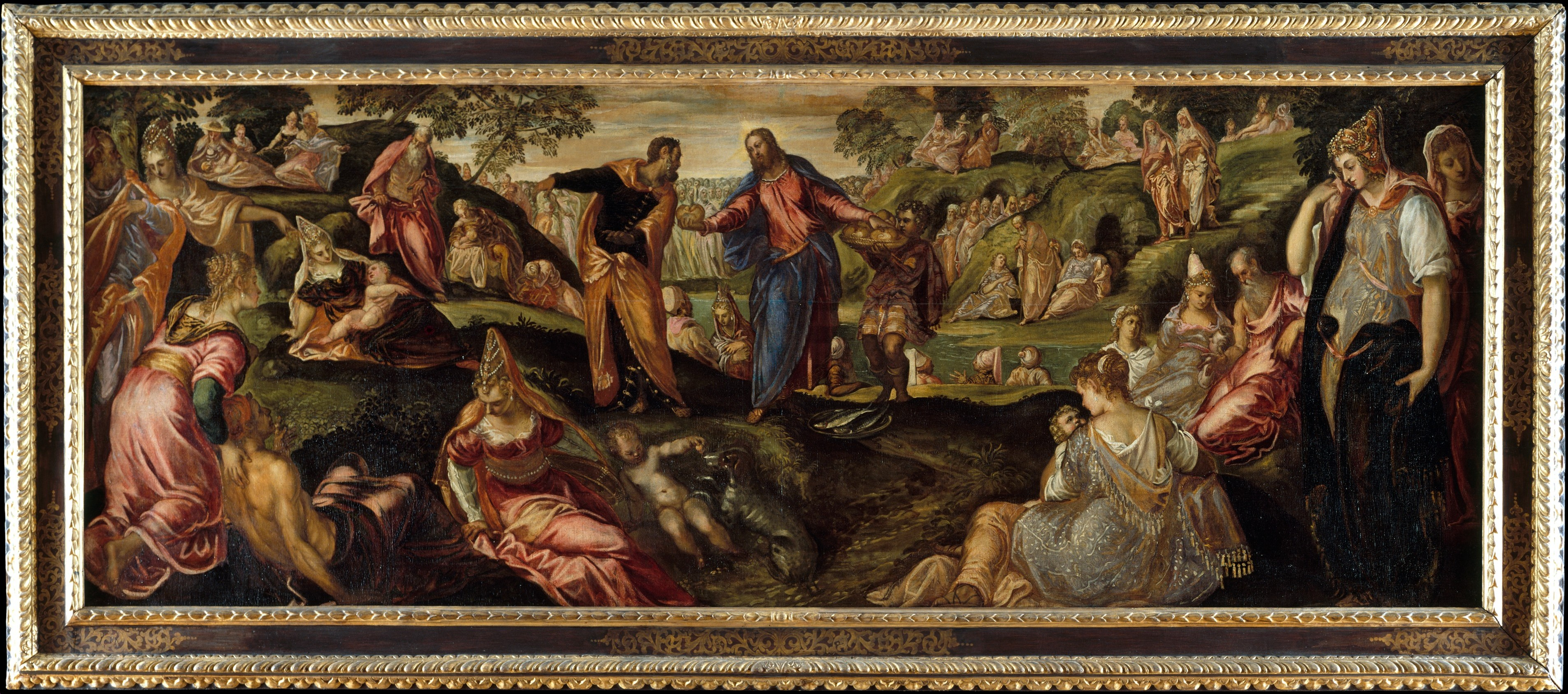 the miracle of the loaves and fishes by jacopo tintoretto ca 1545 50 jpg