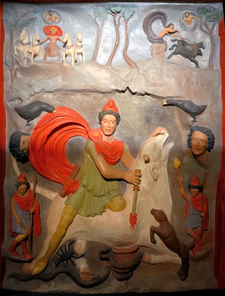 Strasbourg-Koenigshoffen, Second-Century Mithraic Relief, Reconstruction c. 140 –160 CE