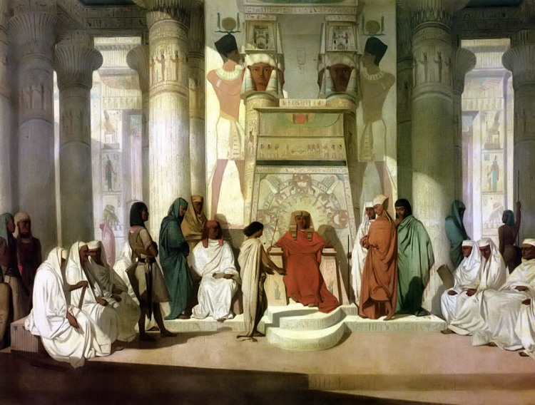 Adrien Guignet, Joseph explains Pharaoh's dream, 19th century
